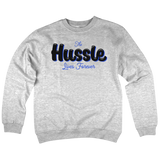 'Hussle' Crew Neck Sweatshirt (Heather Grey)