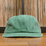 'Essentials Unstructured' StrapBack Hat (Distressed Green)