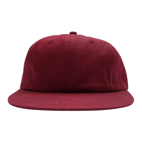 'Essentials Unstructured' StrapBack Hat (Burgundy)