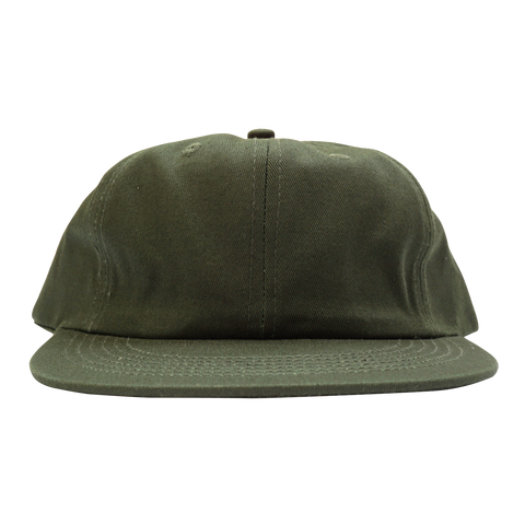 'Essentials Unstructured' StrapBack Hat (Dark Green)