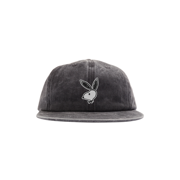 'PlayDead' StrapBack Hat (Distressed Black)