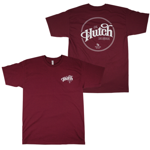 'Hutch' T-Shirt (Burgundy)