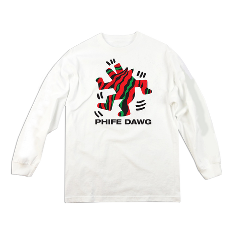 'Phife Dawg' LongSleeve T-Shirt (White)