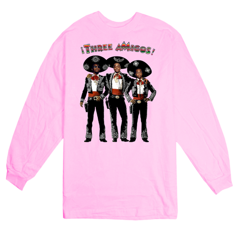 'Three aMigos' L/S T-Shirt (Pink)