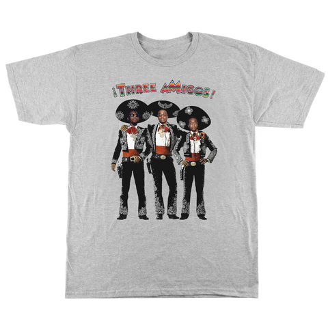 'Three aMigos' T-Shirt (Heather Grey)