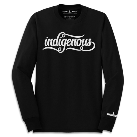 'Indigenous' Long Sleeve T-Shirt (Black)