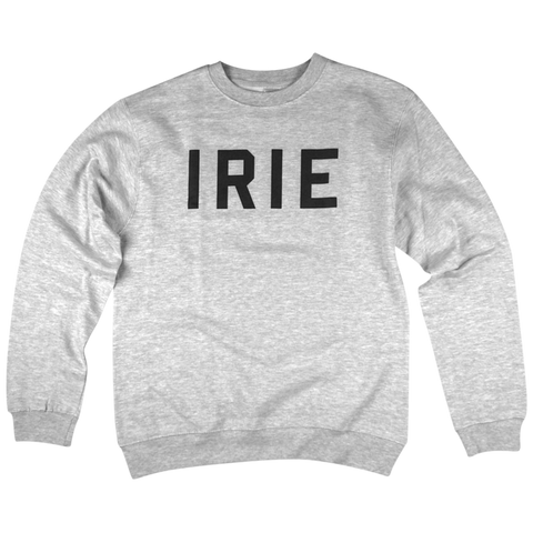 'Irie' Crewneck Sweatshirt (Heather Grey)