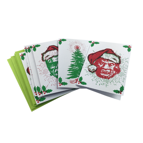 'Monster Xmas' Cards w/ Envelopes (6 Pack)