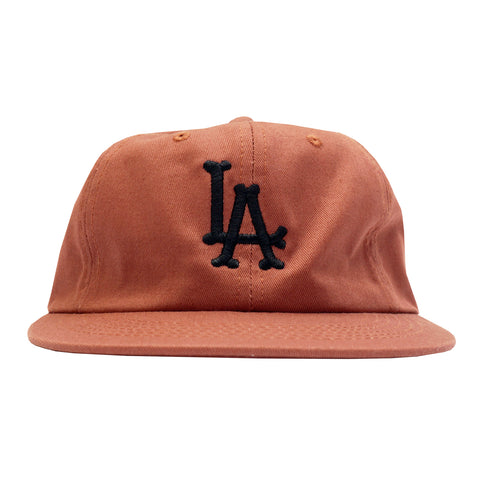 'LA Bones' StrapBack Hat (Burnt Orange)