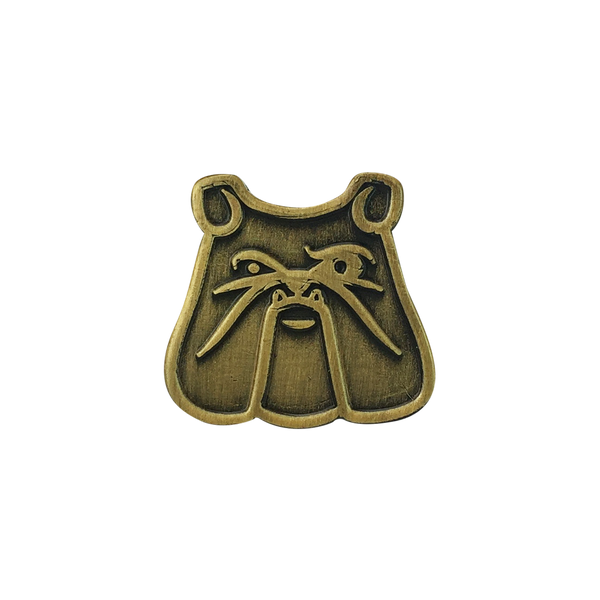 'Antique Bulldog' Lapel Pin