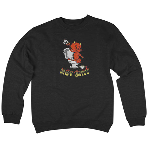 'Hot Shit' Crewneck Sweatshirt (Black)