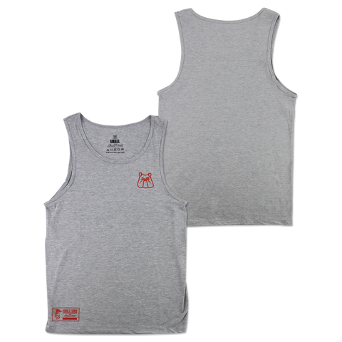 'Club' Heather Grey Tank Top