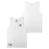 'Club' White Tank Top