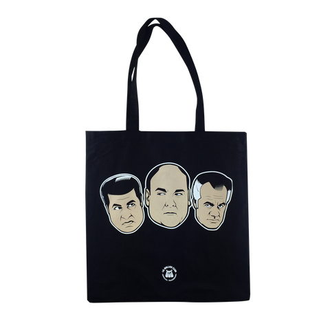 'Wise Guys' Tote Bag (Black)