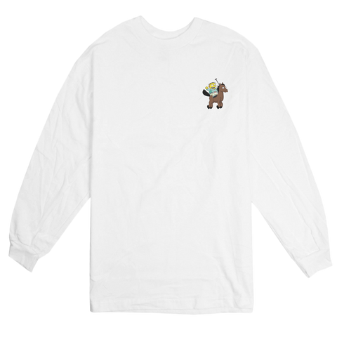 'Lo-Life' Long Sleeve T-Shirt (White)
