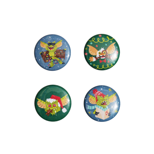 'Gremlins' Holiday Button Pack (4pcs)