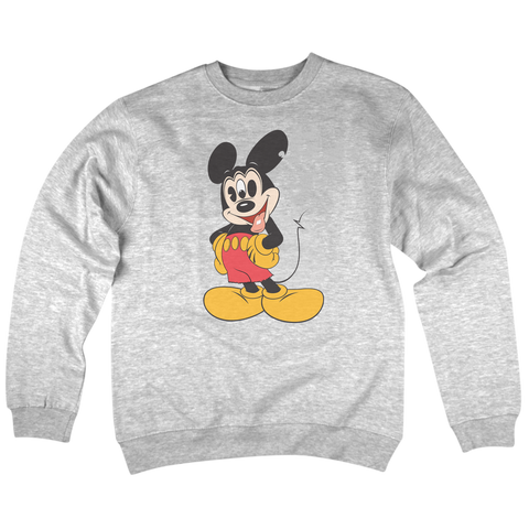 'Mouse Trip' Crew Neck Sweatshirt (Heather Grey)