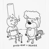 'Beaver & Bong Head' *Original* Signed Art (Framed)