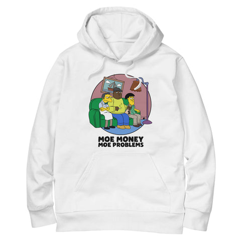 'Moe Money Moe Problems' Hoodie (White)