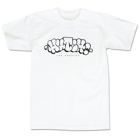 'Hutch LA Throwie' T-Shirt (White)