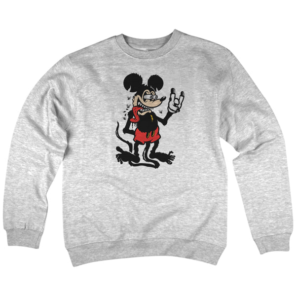 'Mouse Fink' Crewneck Sweatshirt (Heather Grey)