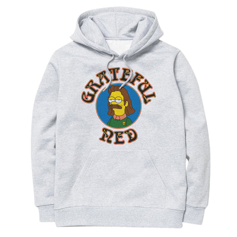 'Grateful Ned' Hoodie (Ash Grey)
