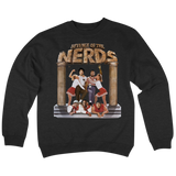 'Revenge OF The N.E.R.D.' Crew Neck Sweatshirt (Black)