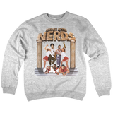 'Revenge OF The N.E.R.D.' Crew Neck Sweatshirt (Heather Grey)