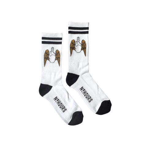 'Flying Fuck' Socks (White)