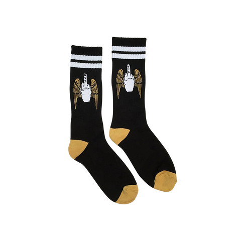 'Flying Fuck' Socks (Black)