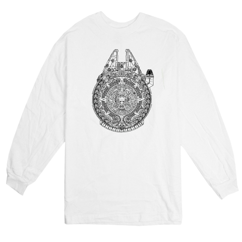 'New Millennium' L/S T-Shirt (White)