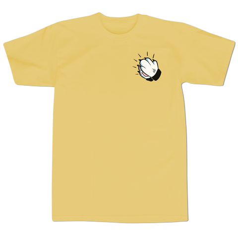 'Praying Paws' T-Shirt (Mustard)