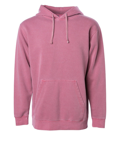 'Essentials Pigment Dyed' Hoodie (Pigment Maroon)