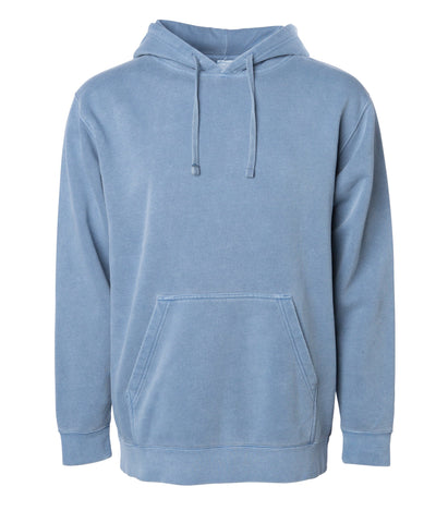 'Essentials Pigment Dyed' Hoodie (Pigment Slate Blue)