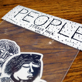 'People Volume 1' Sticker (Pack) 4pcs