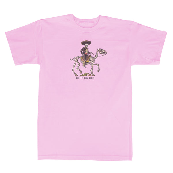 'Ride or Die' T-Shirt (Light Pink)