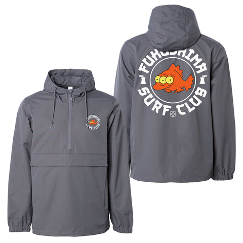 'Surf Club' Anorak Jacket (Grey)