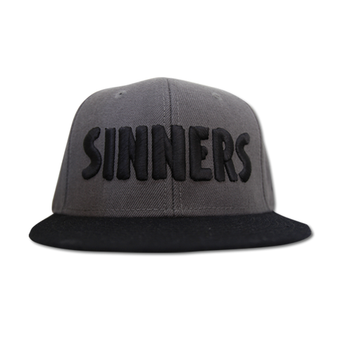 'Sinners' Snap Back (Charcoal & Black)