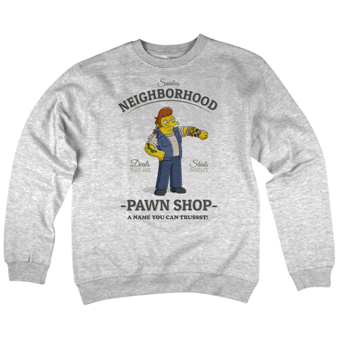 'Pawn Shop' Crewneck Sweatshirt (Heather Grey)