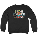 'Powder' Crewneck Sweatshirt (Black)