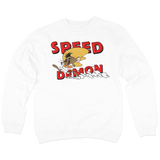 'Speed Demon' Crewneck Sweatshirt (White)