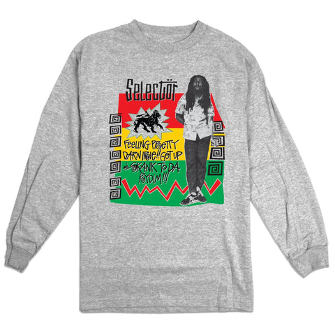 'Pretty Darn Irie' Long Sleeve T-Shirt (Heather Grey)