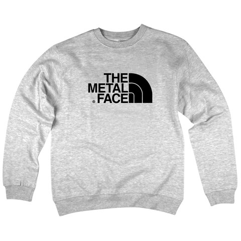 'The Metal Face' Crewneck Sweatshirt (Heather Grey)