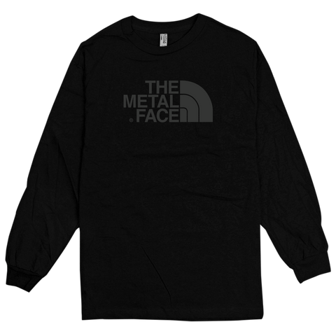 'The Metal Face' Long Sleeve T-Shirt (Black)