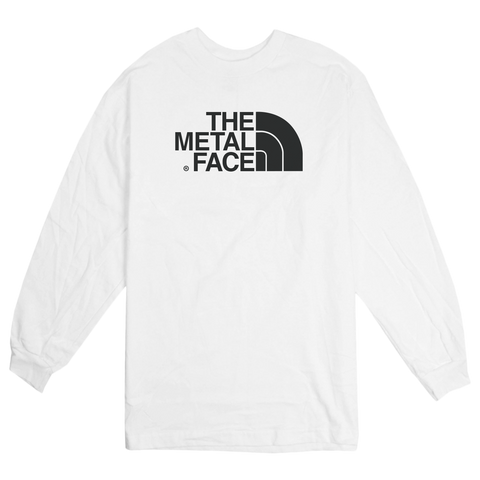 'The Metal Face' Long Sleeve T-Shirt (White)