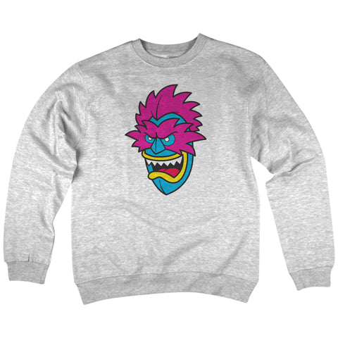 'Tiki-Man' Crewneck Sweatshirt (Heather Grey)