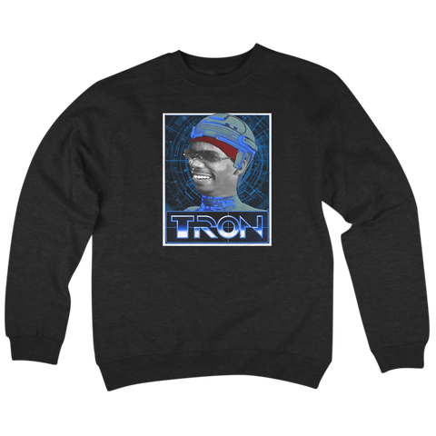 'Tron' Crew Neck Sweatshirt (Black)