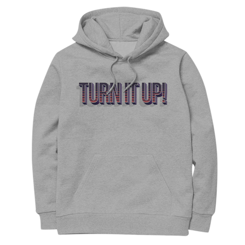 'Turn It Up' Hoodie (Heather Grey)