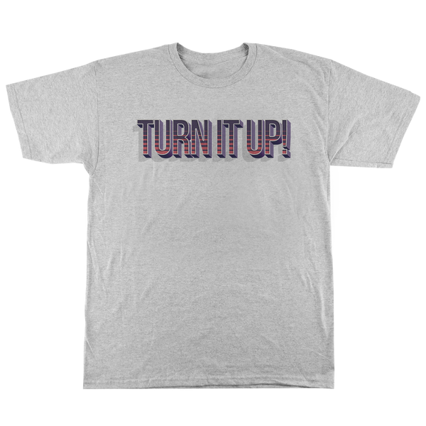 'Turn It Up' T-Shirt (Heather Grey)