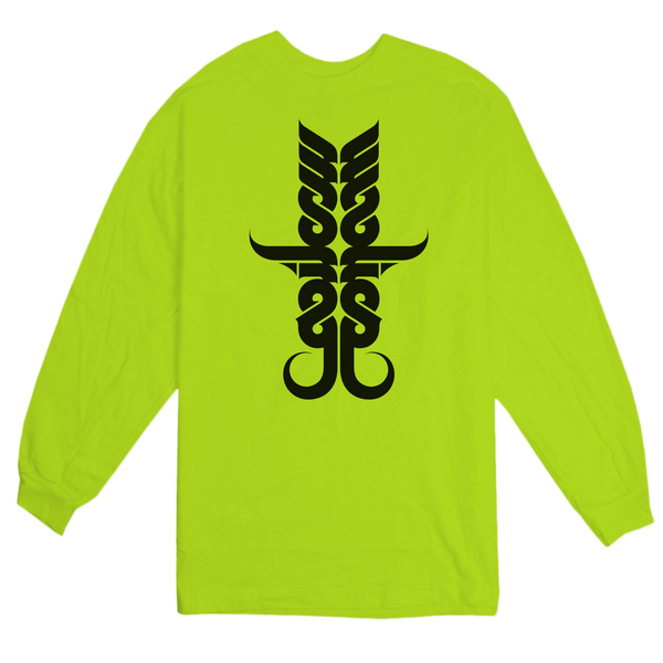 'Tusks' LongSleeve T-Shirt (Safety Yellow)